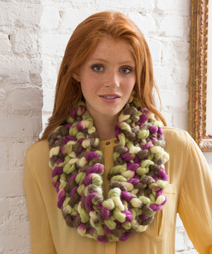 Irresistibly Hip Cowl Free Knitting Pattern LW4993