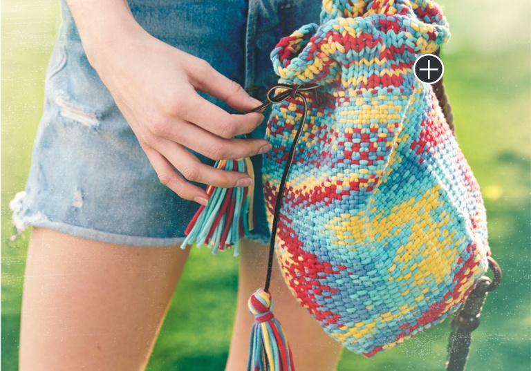 Intermediate Knit Bucket Tote