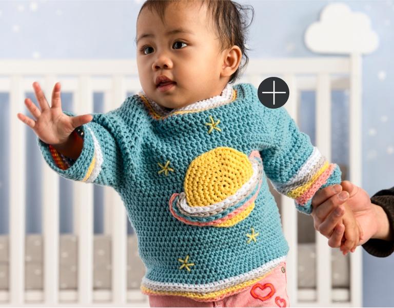 Bernat Crochet Saturn Baby Pullover