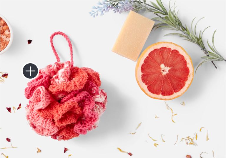 Easy Lily Sugar'n Cream Crochet Bath Pouf