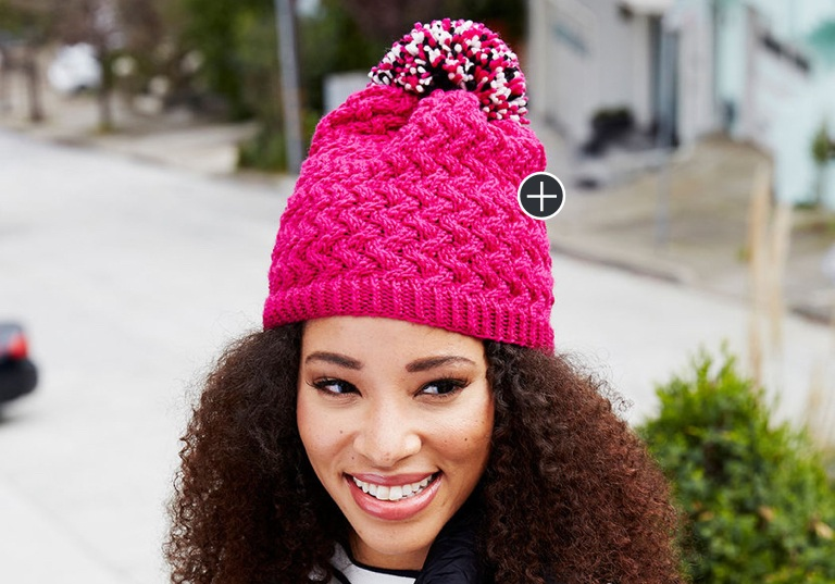 Intermediate Curvaceously Chic Knit Hat
