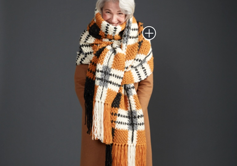 Intermediate Big Tartan Crochet Super Scarf