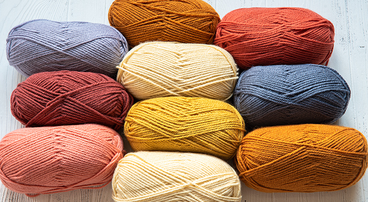 Patons Inspired yarn in different shades