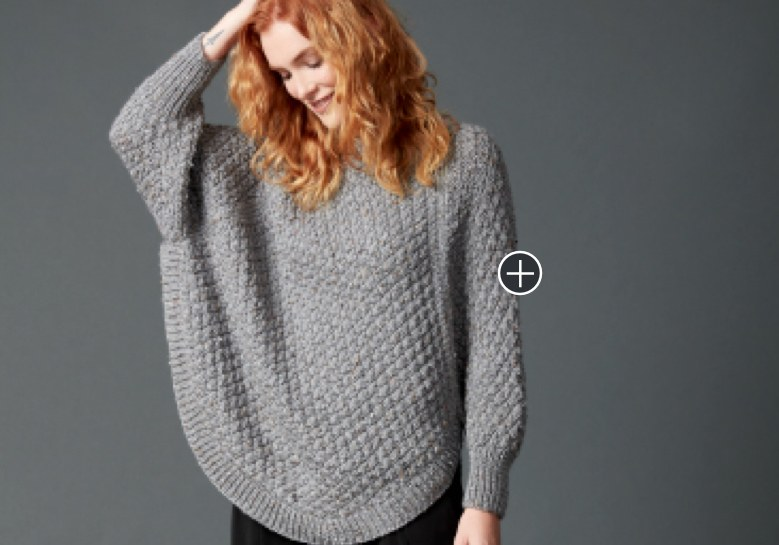 Intermediate Great Curves Knit Poncho