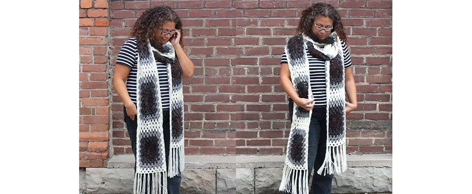Super Granny Crochet Super Scarf in Caron Simply Soft