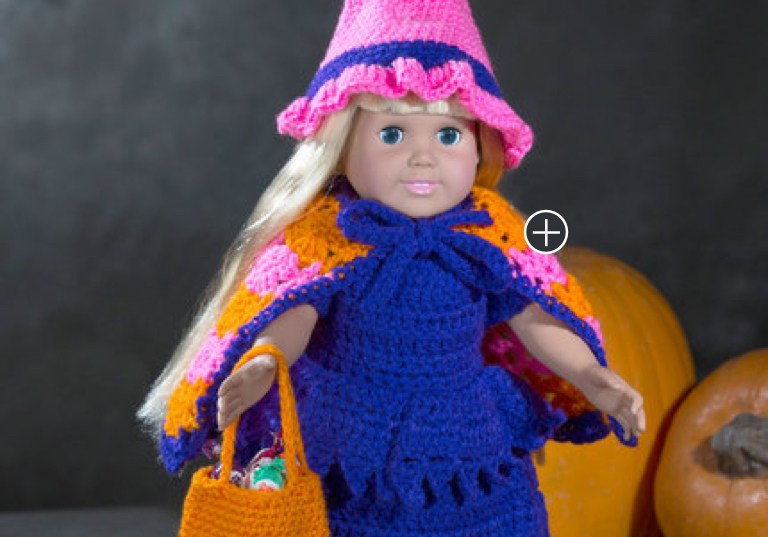 Easy Crochet Doll Witch Costume