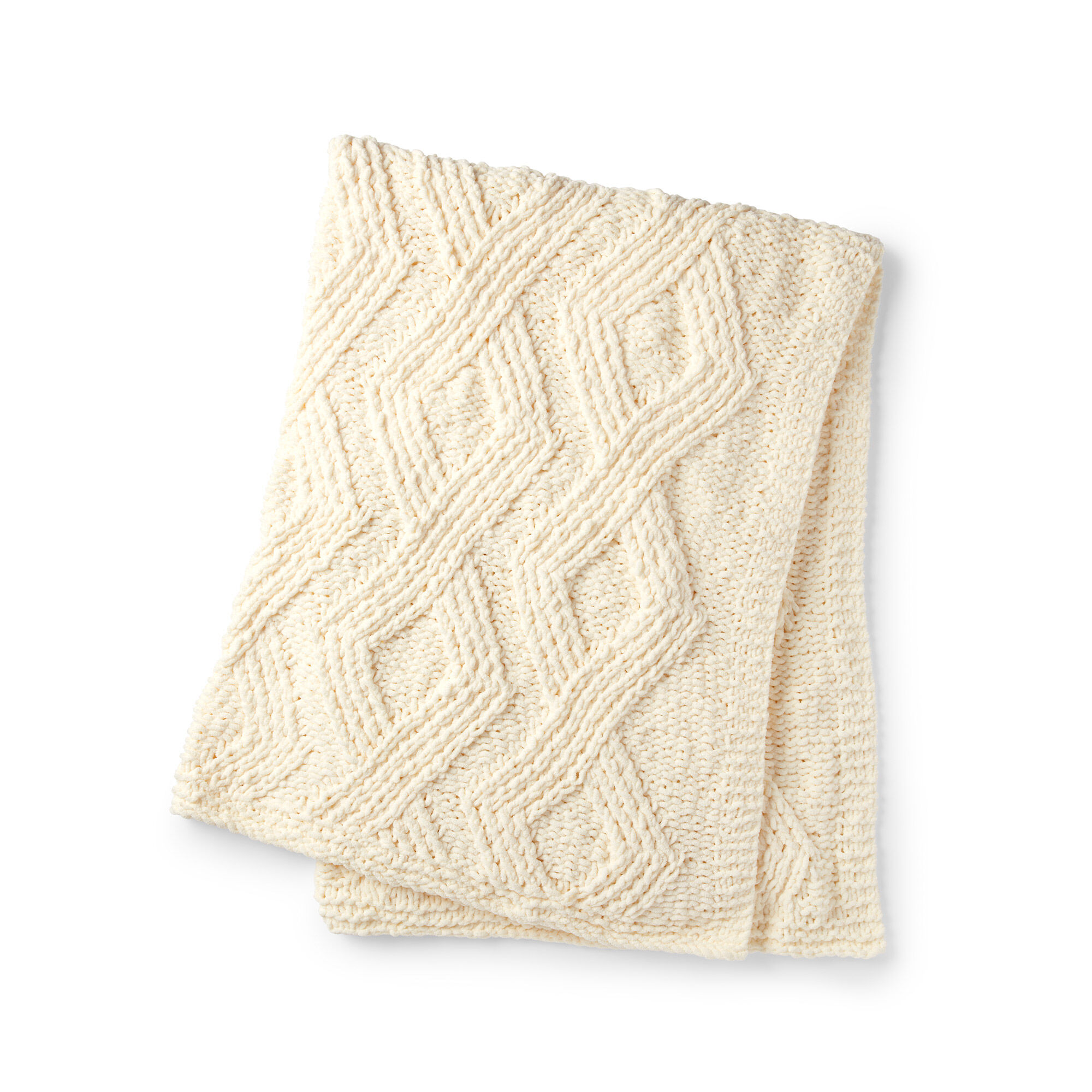 Bernat Twisted Stitch Knit Blanket