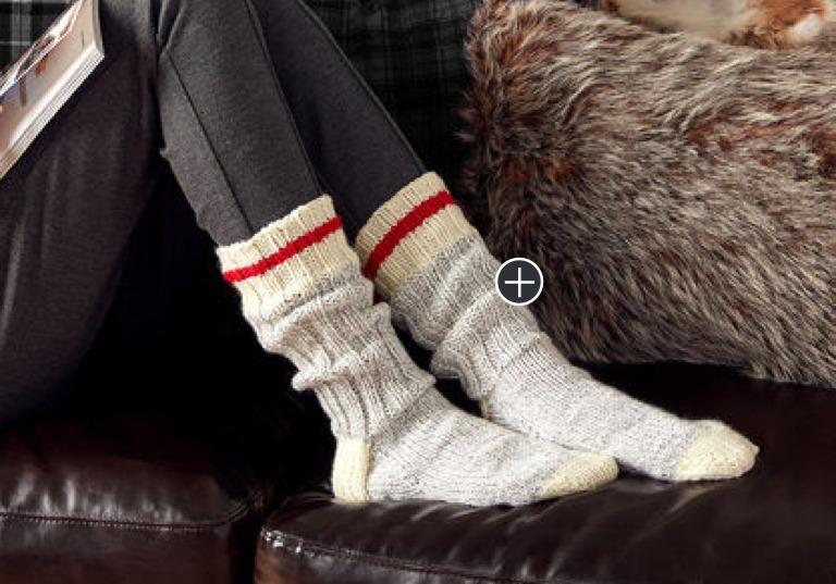 Intermediate Chunky Knit Work Socks