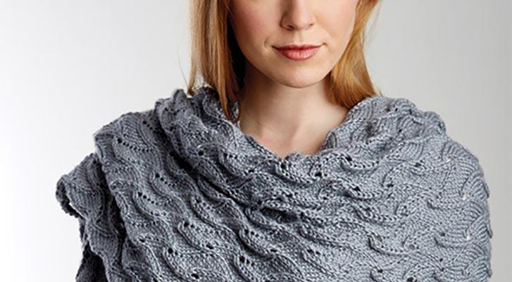 Elegant Lace Shawl in Patons Silk Bamboo