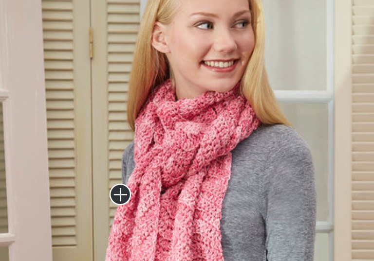 Easy Speckled Crochet Super Scarf