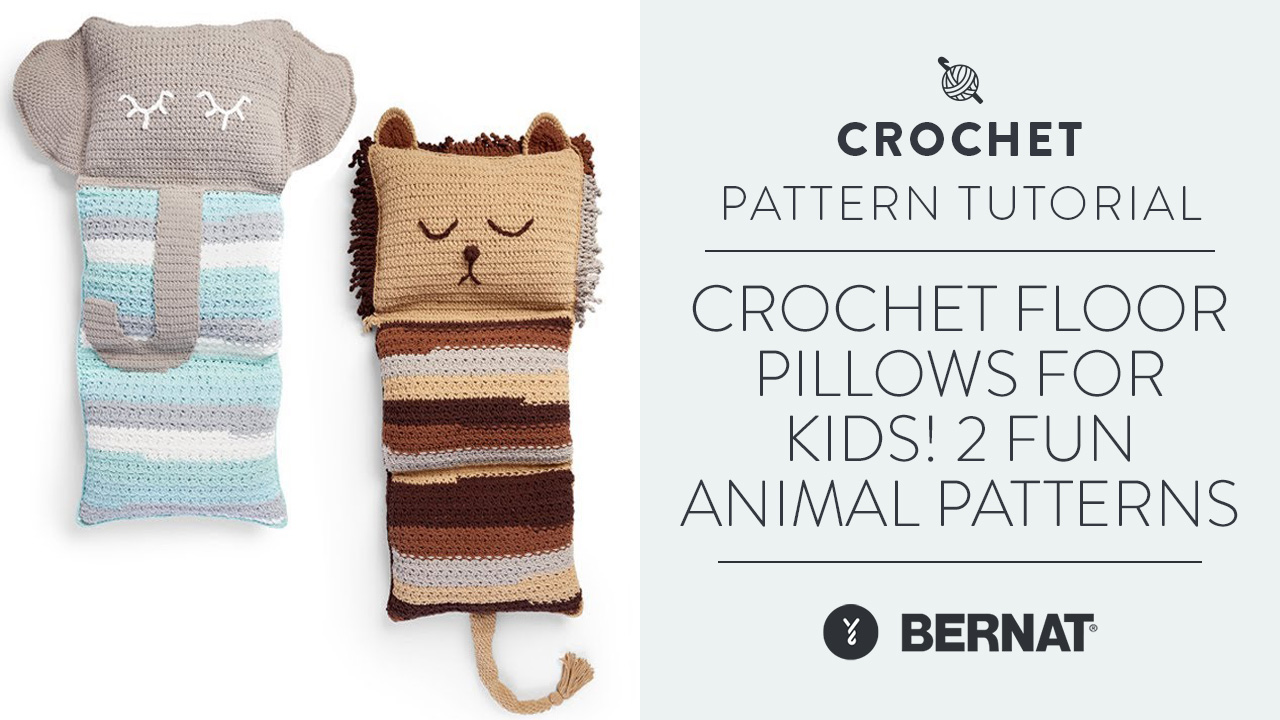 Crochet Floor Pillows For Kids! | 2 Fun Animal Patterns
