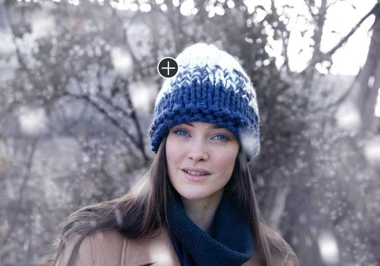 Easy Knit Bulky Gradient Hat