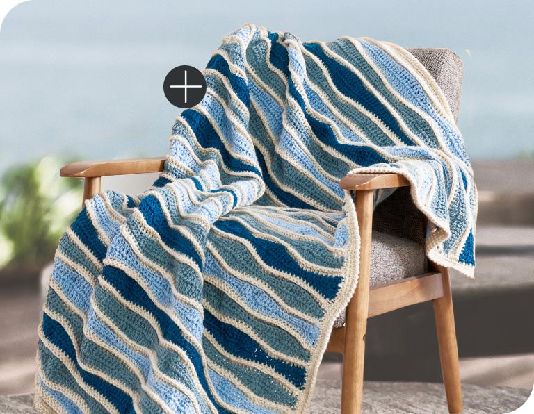 Caron Random Waves Crochet Blanket