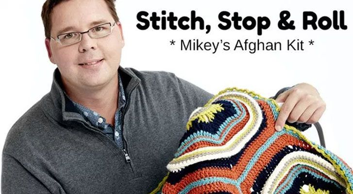 Stitch, Stop & Roll Crochet Afghan