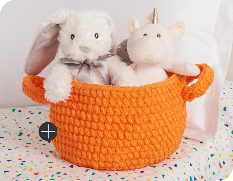 image of Bernat Clutter Catcher Baskets Blanket