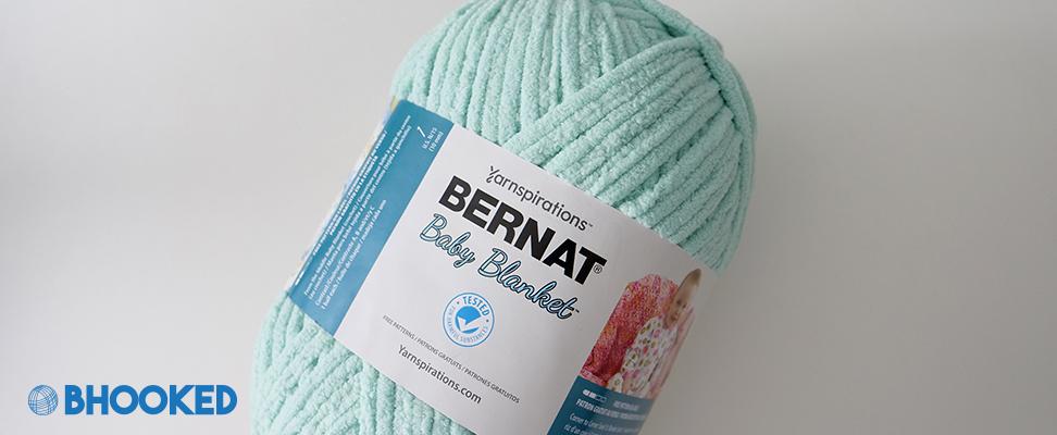 Bernat Baby Blanket yarn 300g ball size in Seafoam