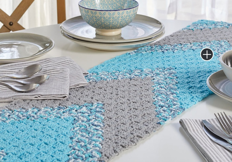 Intermediate Summer Chevron Crochet Table Runner