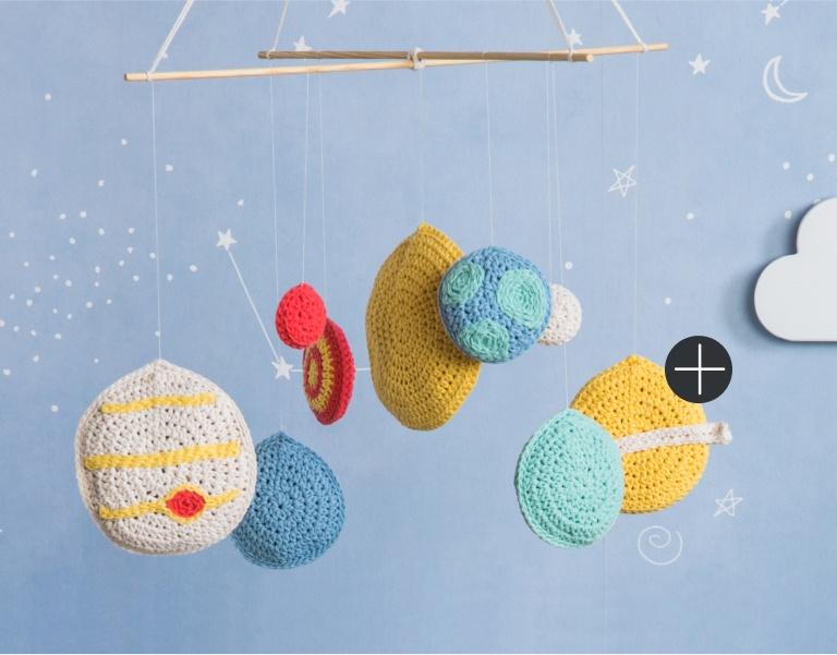 Bernat Solar System Crochet Mobile