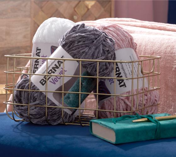 Bernat Velvet Tufted Crochet Pillow  1