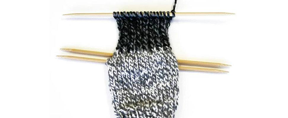 Knit Slouchy Socks Ribbing