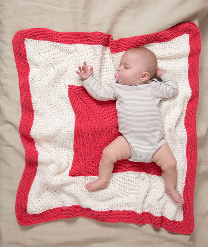 Square on Square Baby Blanket