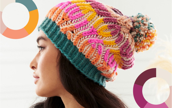 O'Go Introducing Caron Colorama Hat