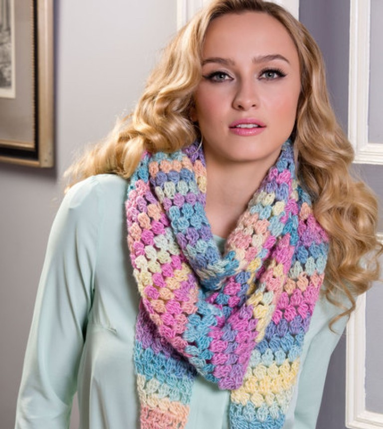 Intermediate Cluster Stitch Crochet Wrap