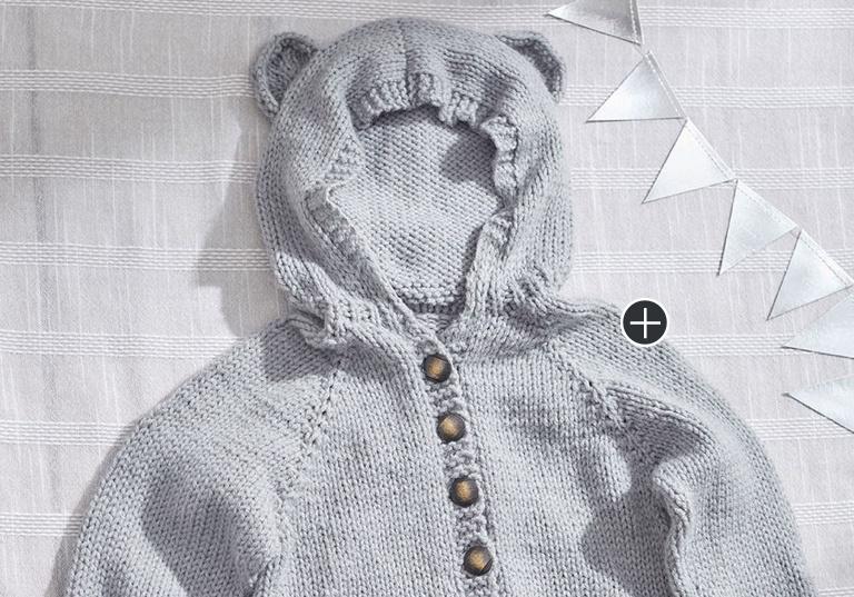 Easy Baby Bear Knit Hoodie