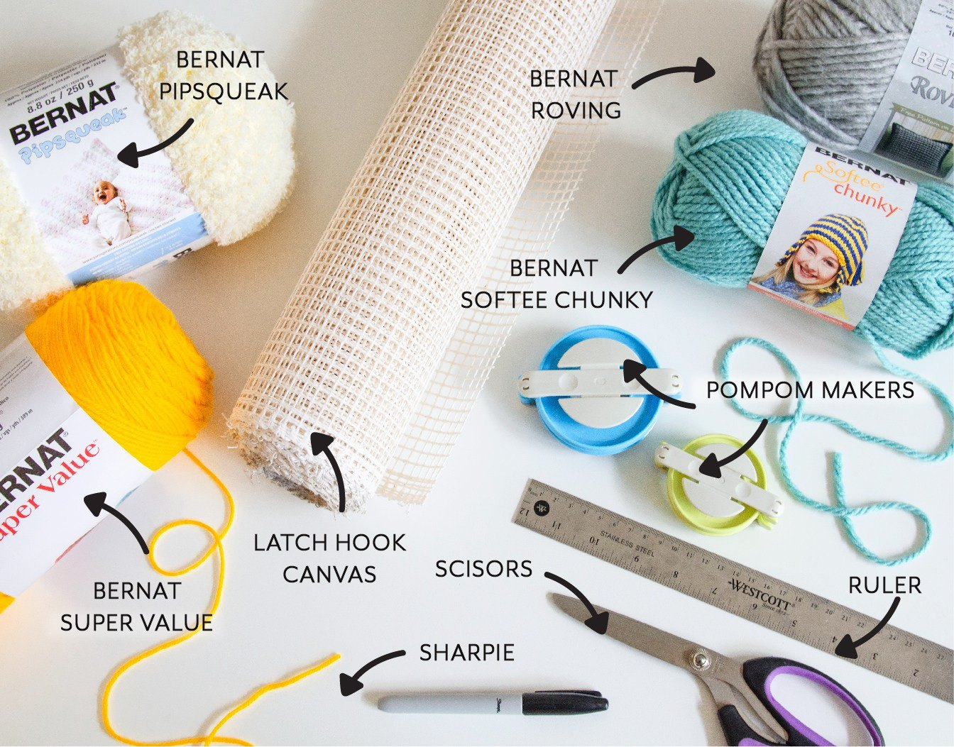 Pompom Wall Hanging Supplies