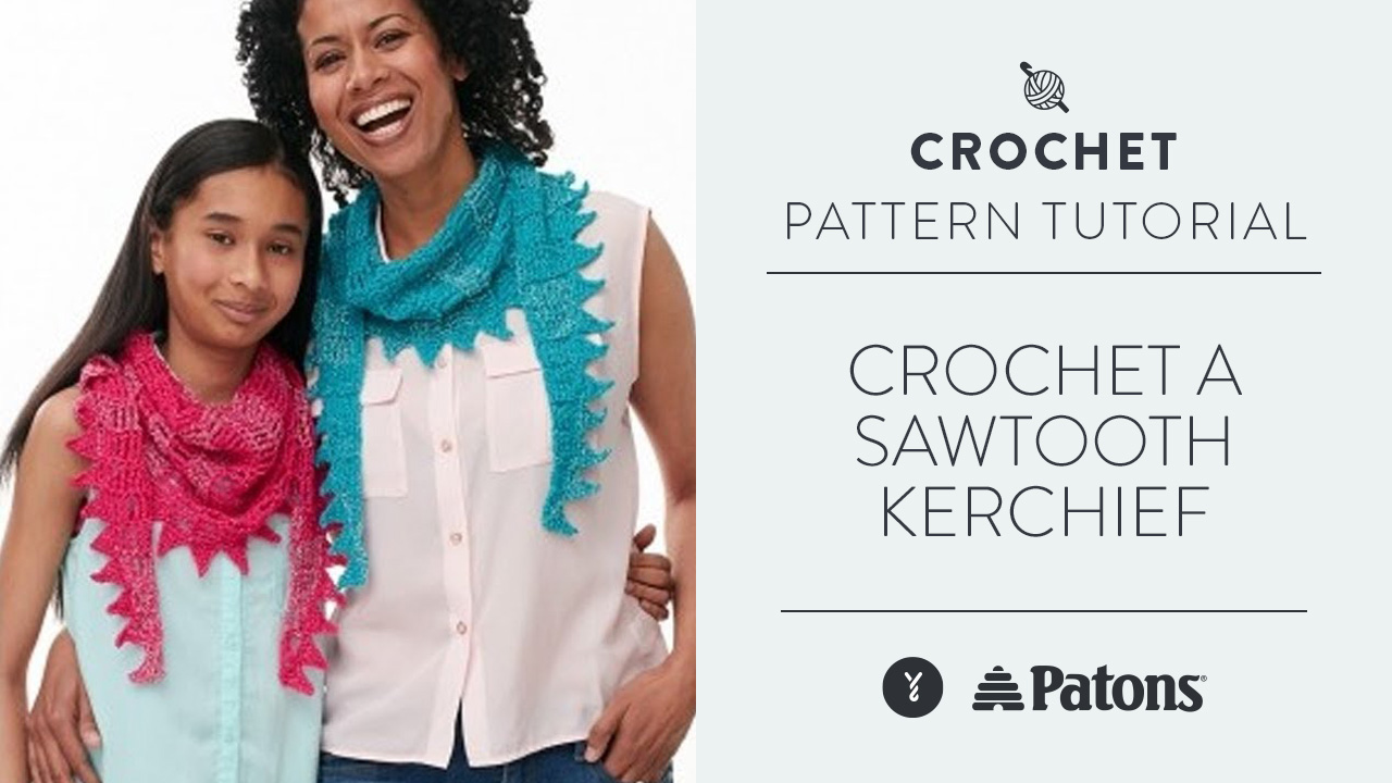 Crochet a Sawtooth Kerchief