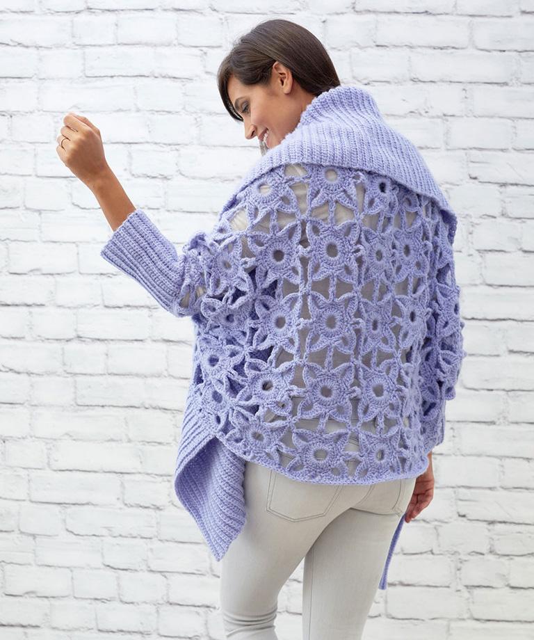 Granny Lace Crochet Cardigan Free Crochet Pattern LW5853