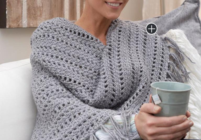 Easy Genuine Crochet Pleasure Shawl