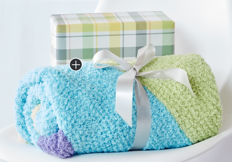 Easy Baby Chevron Knit Blanket