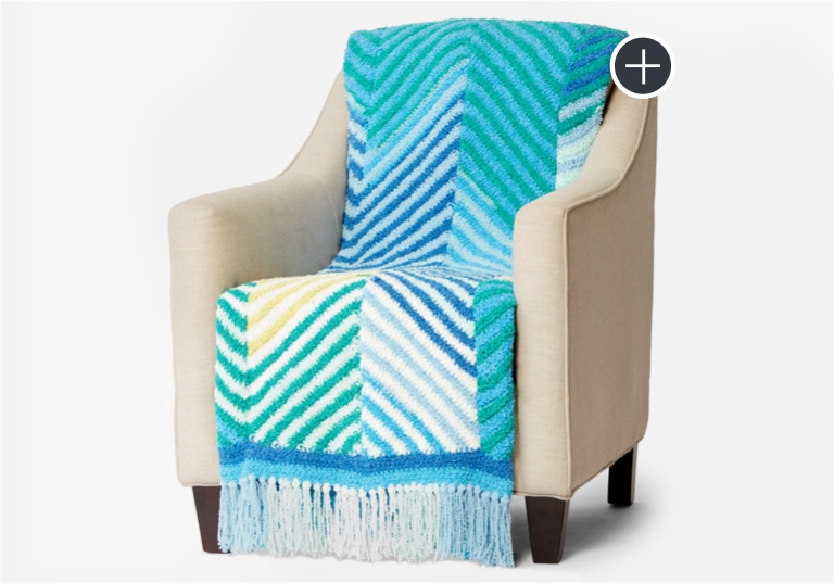 Intermediate Cuddly Crochet Herringbone Blanket