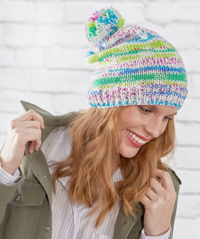 Knit Fair Isle Hat Free Knitting Pattern https://www.yarnspirations.com/red-heart-knit-fair-isle-hat/RHK0116-015569M.html