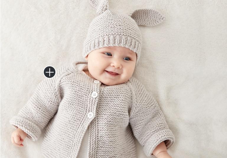 Easy Knit Baby Jacket Set