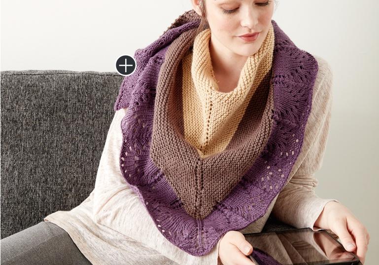 Intermediate Knit Comfort Shawl