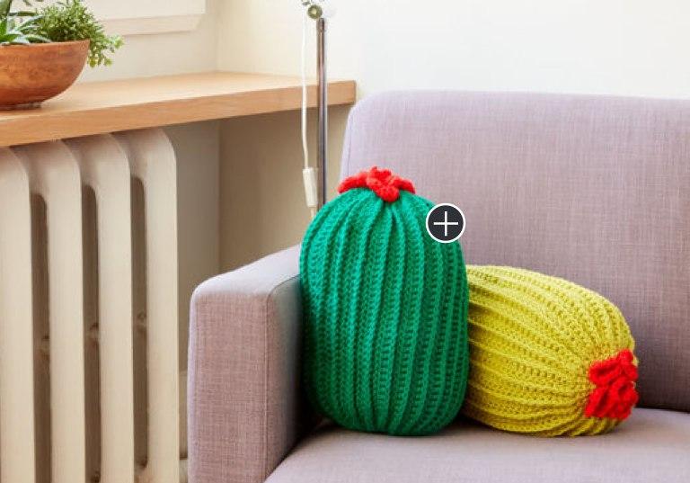 Easy Crochet Cactus Pillow