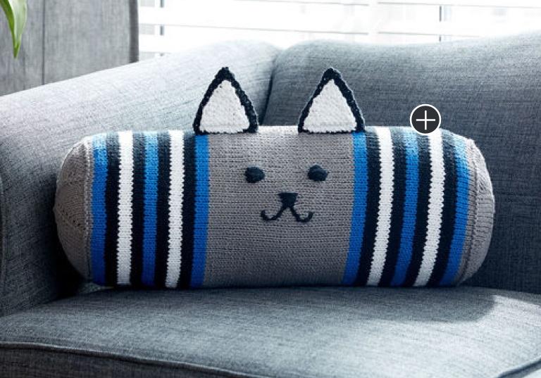 Intermediate Knit Kitty Bolster