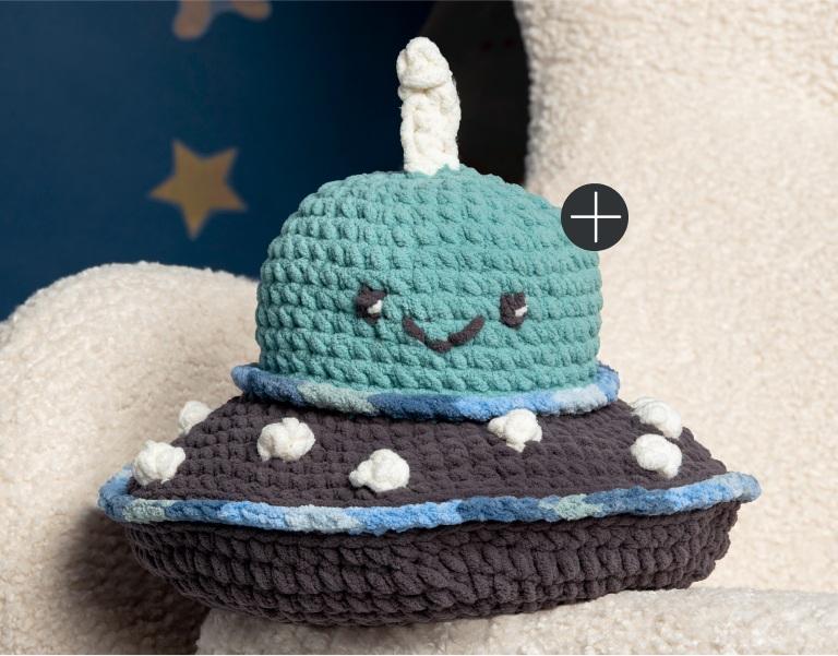 Bernat I Want to Believe Crochet UFO Stuffie