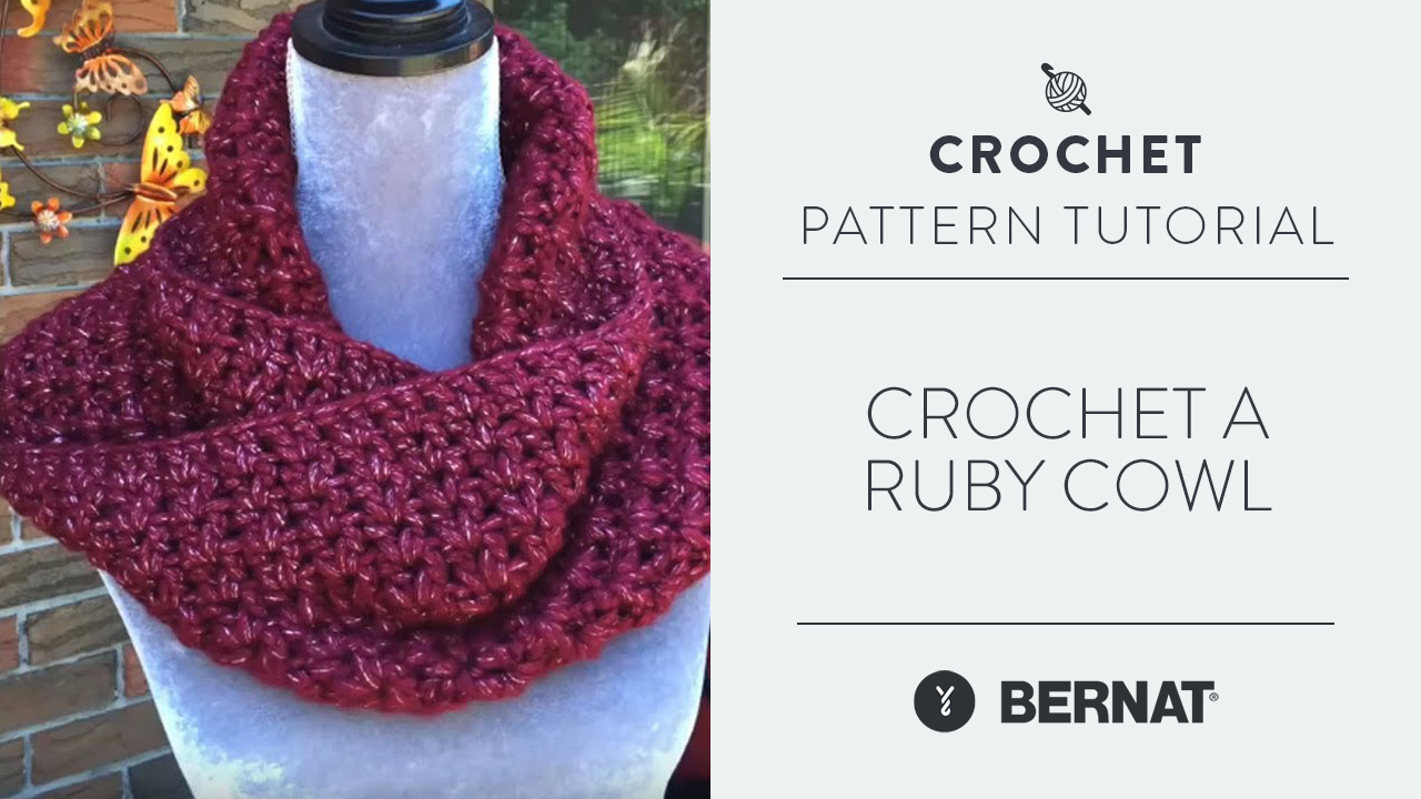Crochet A Ruby Cowl