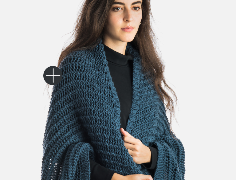 Patons Knit Easy Eyelet Knit Cocoon Cardigan