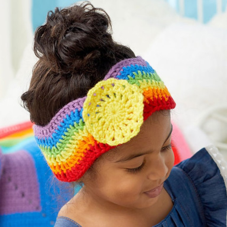 Easy Sweet Sunshine Crochet Headband