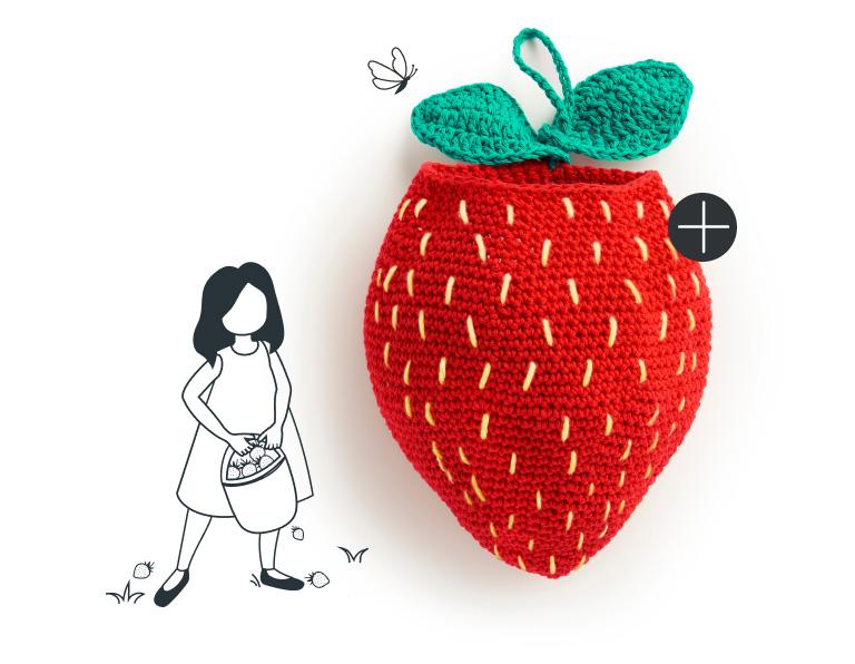 Lily Sugar'n Cream Berry Best Crochet Hanging Basket