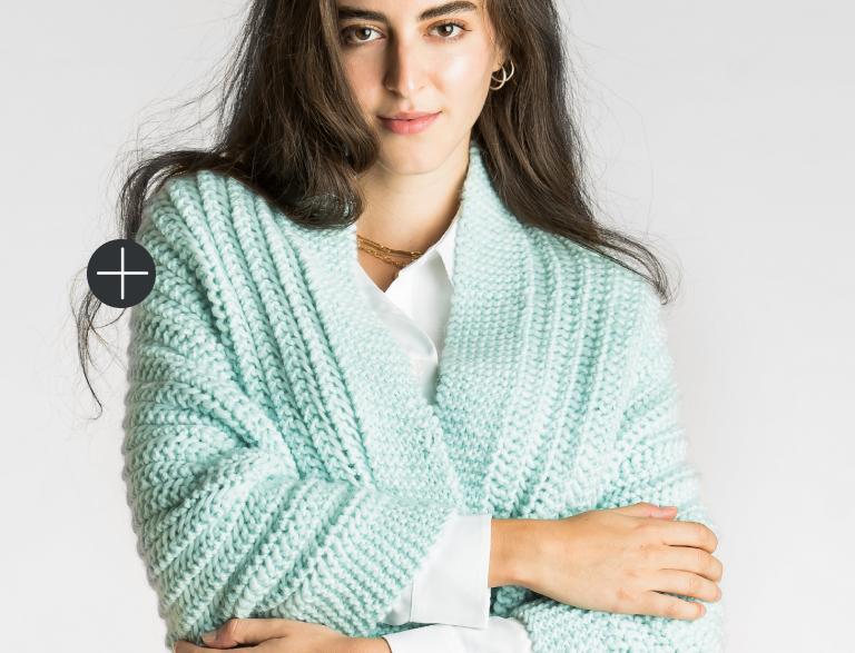 Patons Knit Easy Eyelet stitch wrap
