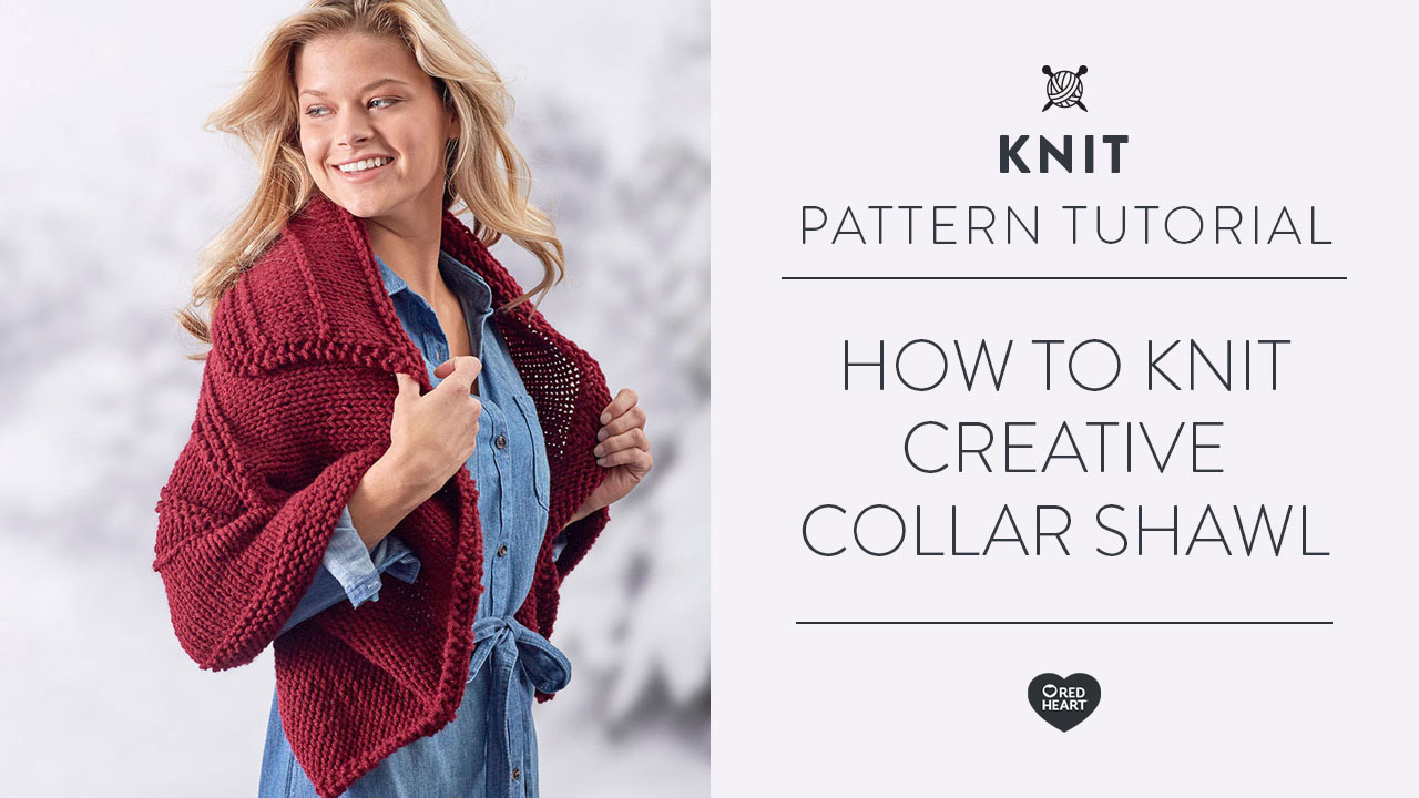 How to Knit Creative Collar Shawl
