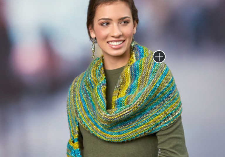 Easy Simple Knit Crescent Shawl