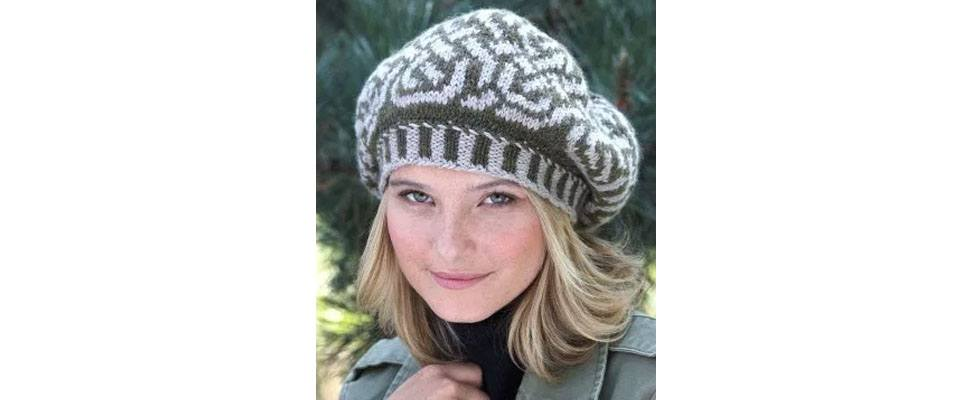 Knit Beret in Patons Classic Wool Worsted yarn