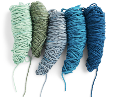 O'Go yarn in five different shades
