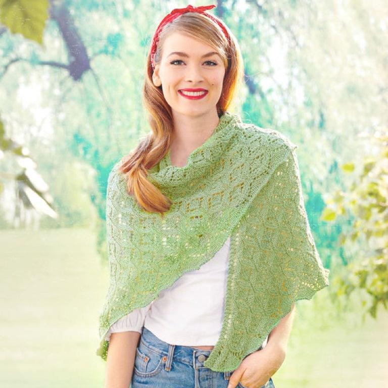Intermediate Pastoral Lace Knit Shawl